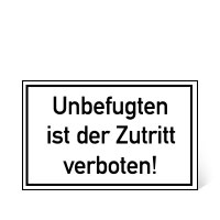 Bild Verbotsschild 'Zutritt verboten'
