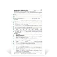 Bild Wohnungs-Mietvertrag, DIN A4, 10 Stück