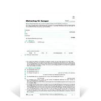 Bild Garagen-Mietvertrag, DIN A4, 10 Stück
