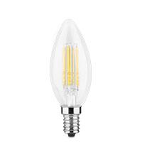 Bild LED 'Glühfaden Kerze', klar, 4W, E14