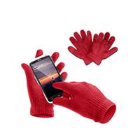 Bild Touchscreen Stoffhandschuhe, rot, L