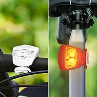 Bild Power LED-Silikon Fahrradlampen-Set