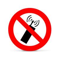Bild Hinweisschild 'Keine Handys'