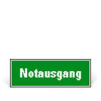 Bild Hinweisschild 'Notausgang'