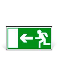Bild Rettungswegschild 'Notausgang', links