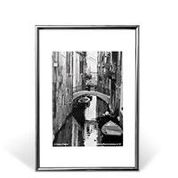 Bild Bilderrahmen, DIN A4, silber/schwarz