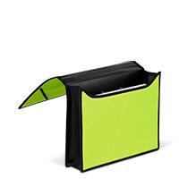 Bild Dokumentenmappe, DIN A4, schwarz / grün