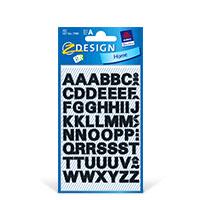 Bild Buchstaben-Etiketten, 10 mm, A-Z, schwarz