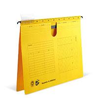 Bild Hängehefter, DIN A4, gelb, 5 Stück