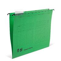 Bild Hängemappe, DIN A4, grün, 5 Stück