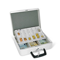 Bild Geldkassette, 32 x 10 x 25 cm, weiß