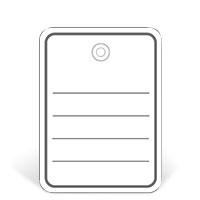 Bild Stückwarenanhänger, 48 x 65 mm, weiß