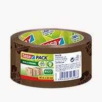 Bild Packband 'ecoLogo', 50 mm x 66 m, braun