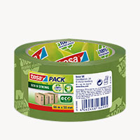 Bild Packband 'ecoLogo', 50 mm x 66 m, grün