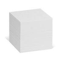 Bild Zettelklotz, 90 x 90 x 90 mm, weiß, 700 Blatt