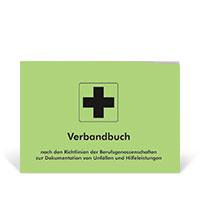 Bild Verbandbuch, DIN A5, grün