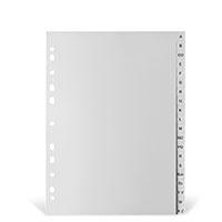 Bild Kunststoffregister, A -Z, grau