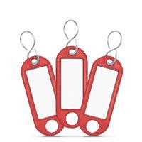 Bild Schlüsselanhänger, rot, 10 Stück