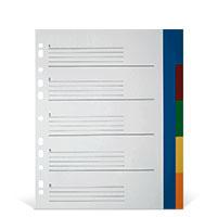 Bild PP-Register Überbreite, 5-farbig, 5-teilig