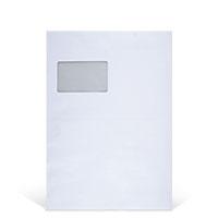 Bild Faltentasche, DIN C4, 100 Stück, weiß