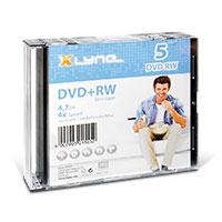 Bild DVD+RW Rohlinge, 4.7 GB, 5 Stück