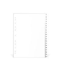 Bild 5 Star, Register, 1-20, weiß, A4, PP