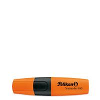 Bild Pelikan, Textmarker, orange