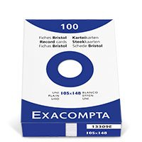 Bild EXACOMPTA, Karteikarte, A6, 100 Stück
