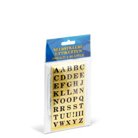 Bild Buchstaben-Etiketten, 1 x 1,5 cm, 210 Stück