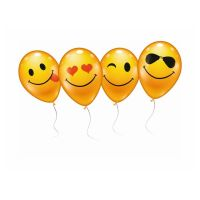 Bild Luftballons, Smiley, 6er Beutel
