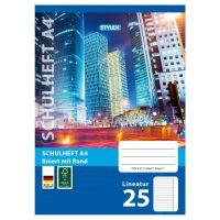 Bild Schulheft, Lineatur 25, DIN A4, 16 Blatt