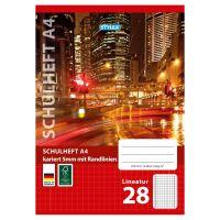 Bild Schulheft, Lineatur 28, DIN A4, 16 Blatt