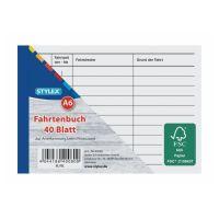 Bild Fahrtenbuch, DIN A6, 40 Blatt, FSC