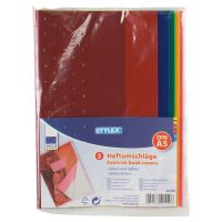 Bild Heftumschläge, DIN A5, farbig transparent, 5er Pack