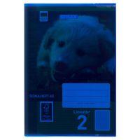 Bild Heftumschläge, DIN A5, blau, transparent
