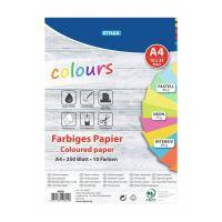 Bild Farbiges Papier, DIN A4, 250 Blatt