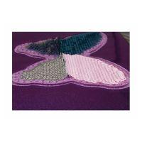 Bild Etuibox, glitter, lila mit Paillettendruck 'Schmetterling'