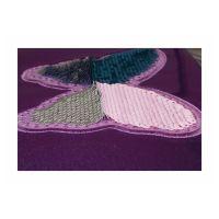 Bild Etuibox, glitter, silber mit  Paillettendruck 'Schmetterling'