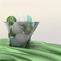 Bild 10er LED Lichterkette Cotton Balls, batteriebetrieben
