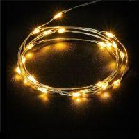 Bild 2x 20er LED-Silberdraht-Lichterkette, inkl. Timer