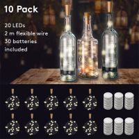 Bild 10 x 20er LED-Flaschen-Lichterkette