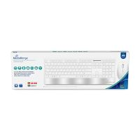 Bild MediaRange Funk-Tastatur- und Maus-Set, Highline Serie, QWERTZ, weiß/silber