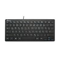Bild MediaRange kabelgebundene Kompakt-Tastatur mit 78 ultraflachen Tasten, QWERTZ, schwarz