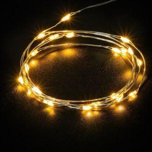 inkl Timer; 20er LED-Silberdraht-Lichterkett 20er LED-Silberdraht-Lichterkette