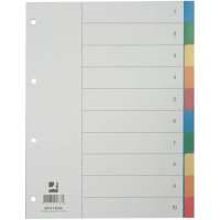 Bild Register - blanko, PP, A4, 10 Blatt, Taben 2x 5-farbig