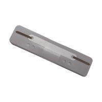 Bild Heftstreifen Kunststoff, kurz - Deckleiste aus Kunststoff, grau, 25 Stück