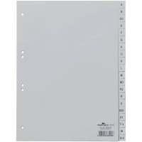Bild Register - A - Z, PP, grau, A4, 20 Blatt
