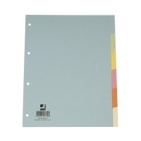 Bild Register - blanko, A4, 6 Blatt, Taben 6-farbig