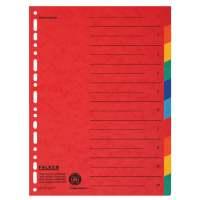 Bild Zahlenregister - 1-10, Karton farbig, A4, 5 Farben, gelocht mit Orgadruck