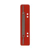 Bild Heftstreifen Kunststoff, kurz - Deckleiste aus Metall, rot, 25 Stück